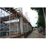 escoramentos para obras no Ibirapuera